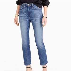 J. Crew Straightaway Cropped Jeans